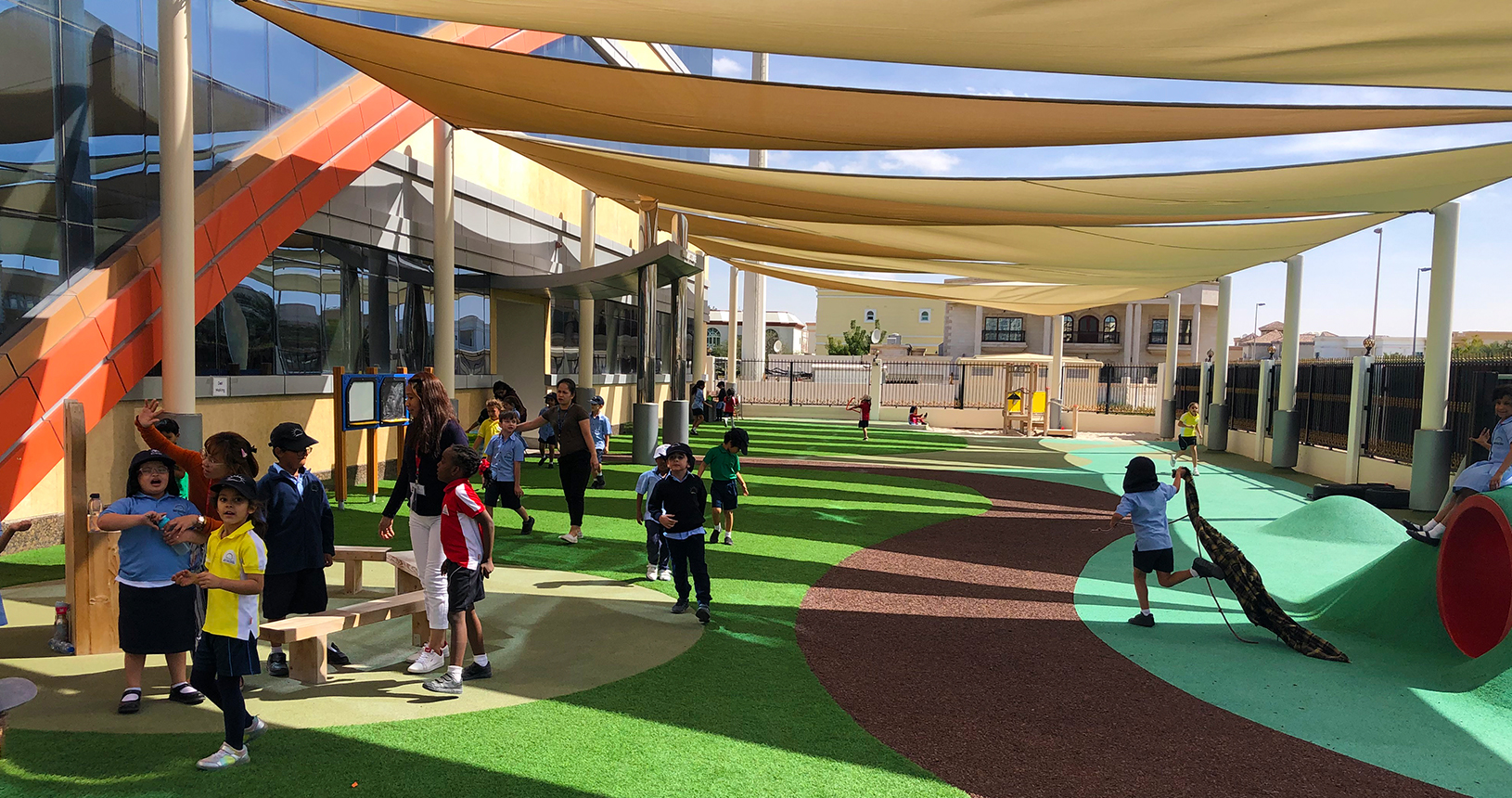 Smart Vision School Primary Designated fully equipped playground